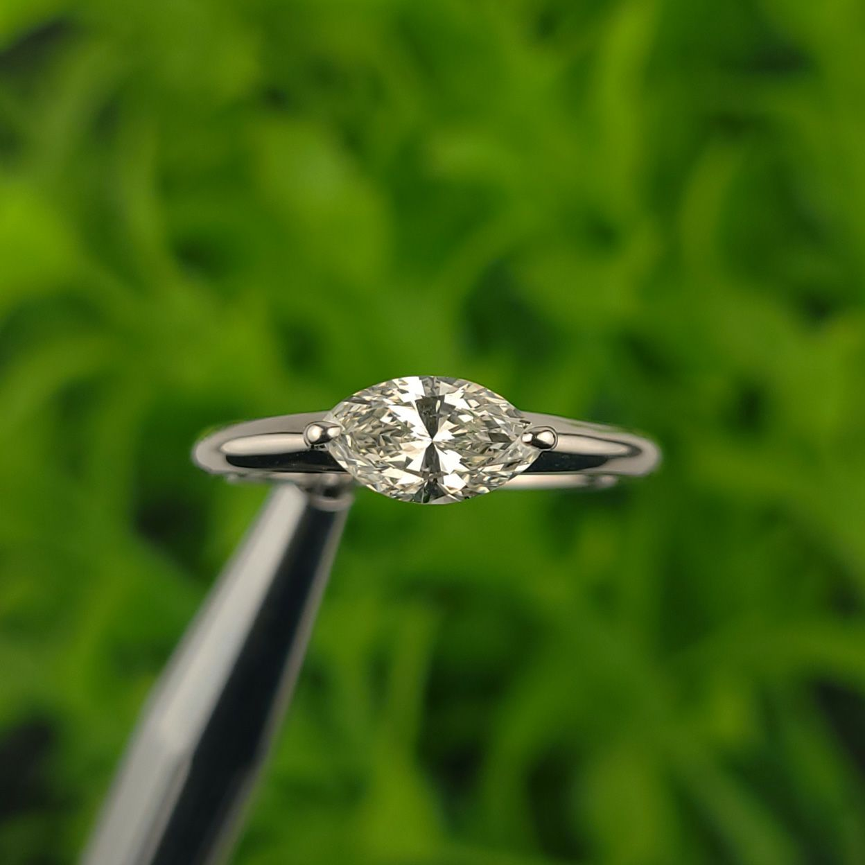 em7392 ダイアモンドマーキスカット0.66ctプラチナリング(中央宝石研究所ダイアモンドソーティング付)