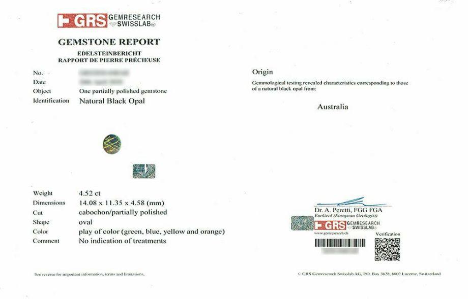 em3638 ブラックオパール4.52ctプラチナネックレスダイア1.75ct付(GEM RESEARCH SWISSLAB宝石鑑別書付)