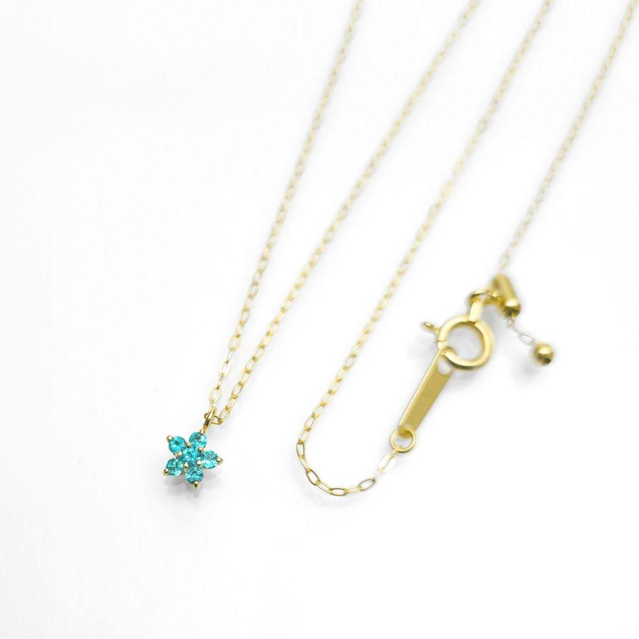 【Blue STAR】ブラジル産パライバトルマリンYGK18ネックレス